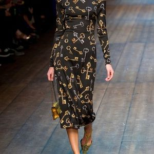 NWOT Dolce & Gabbana key silk dress